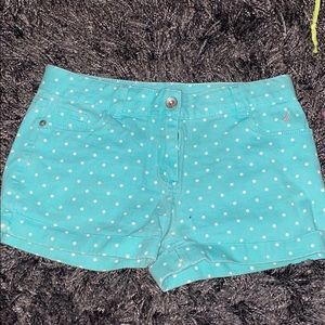 Teal with white polkadots shorts Nautica